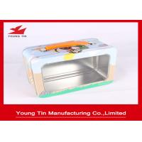 Quality Rectangle Full Color Printed Metal Lunch Tin Box YT1225 With Clear PET Window for sale
