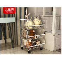 Modern Stackable Metal Bin Basket  , Open Front Wire Storage Baskets Manufactures