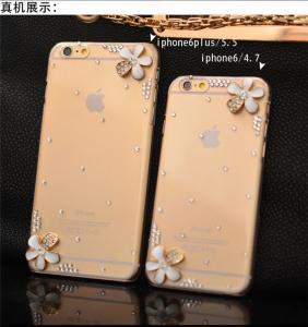 Wholesale Diamond Case, Iphone Transparent Case with Diamond Cherry Manufactures
