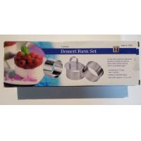 FB141007 wholesales set of 4 stainless steel 430 dessert molds Manufactures