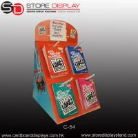 Display corrugated counter displaybox with hooks Manufactures