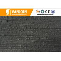 Breathability Durability Black Wall Tiles / Exterior Wall Decorative Clay Split Brick Tile Manufactures