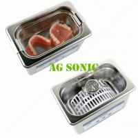 800ml Dental Sonic Bath Cleaner With SUS Basket , Ultrasonic Teeth Cleaning Machine Manufactures