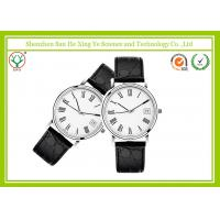 5 ATM Water Resistant Leather Strap Watch Stainless Steel Watch Back Genuine Manufactures