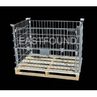 Wire Container with Wood Pallet Manufactures