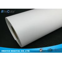 Giclee Eco Solvent Media , 260gsm Silky Polyester Glossy Inkjet Canvas Rolls Manufactures