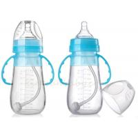 China 240ml Silicone Breastfeeding Baby Bottles With Handles For Newborn Infant Milk Bottle BPA Free for sale