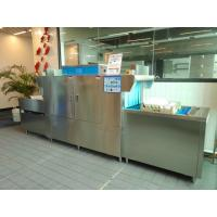 180L Kitchen Plates Washing Machine , Commercial Dishwasher For Coffee Shop 59KW Manufactures