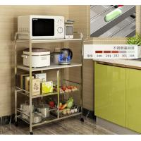 Kitchen Stainless Steel Storage Racks On Wheels Adjustable With 4-6 Tier Manufactures
