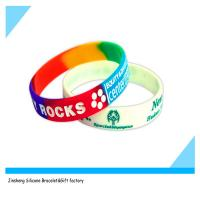 China cute custom debossed silicone bracelet on sale