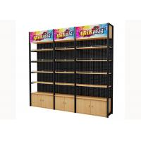 Cold Rolled Steel Supermarket Shelving Wood Gondola Shelving Classic Style Manufactures