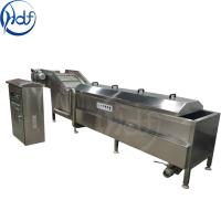 98 Celsius Vegetable Blanching Machine High Automation Control For Food Processing Manufactures