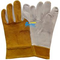 China Deluxe Goat Skin Leather MIG/TIG Welding Work Gloves-TMWG103 on sale