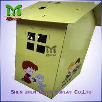 Custom Painting Corrugated Cardboard Kids Toys Eco - friendly Paperboard Playhouse Manufactures
