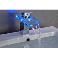 Contemporary 3 Color Change Bathroom Basin Faucets For Hotel Use , CE Certified Manufactures