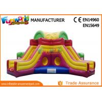 Mega Obstacle Course Inflatable Amusement Park Playground / Inflatable Fun City Manufactures