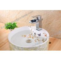 china wholesla brass basin waterfall faucet for bathroom,brass square waterfall wash basin faucet,bathroom square faucet Manufactures