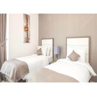 Commercial Hotel White Bedroom Furniture Sets , Economic Modern Apartment Furniture Manufactures