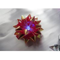 Transparent LED Glowing gift ribbon flower bows with LED light for celebration party Manufactures