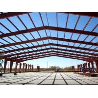 Big Span Warehouse Steel Structure With Red Anti - Rust Painting Manufactures