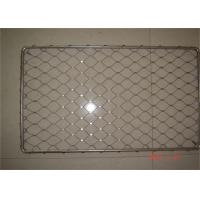 Woven Stainless Steel Ferrule Mesh , 304 / 316 Stainless Steel Diamond Mesh Manufactures