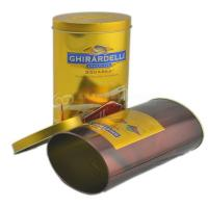 China Custom design round chocolate candy tin box / tin box wholesale on sale