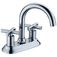 Chrome Polished Basin Mixer Faucet with Two Handles for Bathtub , European Style Manufactures