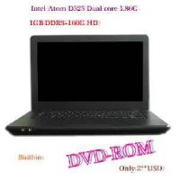 China 14.1′′ Win7 1366*768 Notebook Computer,D2500 Dual Core 1.86GHz+2g DDR3+250g HD,Camera,Bt,Slot-Loading DVD-ROM on sale