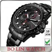10 ATM Water Resistant Stainless Steel Sports Watch With PVD Plating Manufactures