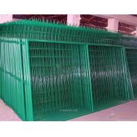 Industrial Green Metal Mesh Fencing / PVC coat Welded Mesh Fence Panels Manufactures