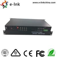 16CH AHD CVI TVI Over Fiber Converter , HD - AHD / HD - CVI / HD -TVI Optical Transceiver Manufactures