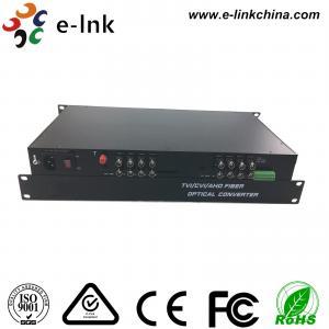 16CH AHD CVI TVI Over Fiber Converter , HD - AHD / HD - CVI / HD -TVI Optical Transceiver Manufactures