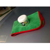 Green color 40x60cm microfiber microfibre car cleaning detailing towels/cloth with red edge Manufactures
