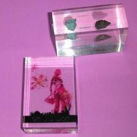 Plexiglass Paperweight, Available in Customized Sizes and Shapes, OEM Orders are Welcome Manufactures