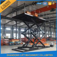 Professional Garage Heavy Duty Hydraulic Scissor Car Lift Elevator 24 Months Warranty