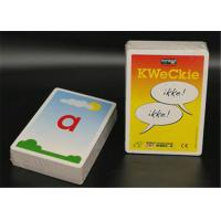 Plastic or Paper Educational Flash Cards , Custom Size Baby Flash Cards Manufactures