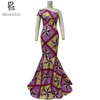 African Lady / Female Wax Fabric African Style Dresses Fashion Sexy 100% Cotton Manufactures