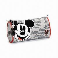 China Mickey Mouse Faces Pencil Case, Zip-up Type, Suitable for Children Aged Above 3 Years on sale