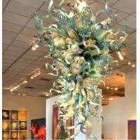 Art Deco Blown stained Glass Chandelier for Project Home Lights (WH-BG-06) Manufactures