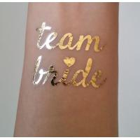 Team Bride Temporary Wedding Metallic Tattoo Stickers Waterproof Removable Manufactures