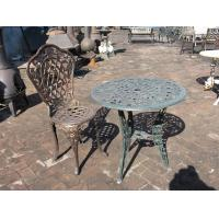 Antique Cast Iron Patio Set Table Chairs Garden Furniture Erosion Resistance Manufactures