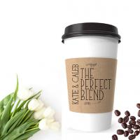 Disposable Paper Cup Sleeves Various Size Heat Resistant For Hot Coffee Manufactures