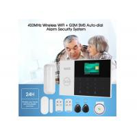 Wired Wireless Home Security Alarm System GSM WIFI Alarm DC 5V With Panic Button Manufactures