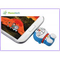 Rubber PC / Android OS Cell Phone USB Flash Drive , PVC OTG Thumb Drive Pink Green Manufactures