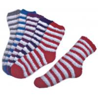 Stripe pattern ,Aloe Infused SPA Socks polyester plush therapy spa sock Manufactures
