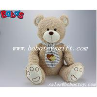 ASTM Approved Cuddly Wheat Teddy Bear Toy With Scarf Manufactures