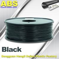 Black 1.75mm /3.0mm 3D Printer Filament , Ultimaker 3D Printer Consumables ABS Filament Manufactures