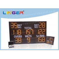Iron / Steel Frame LED Cricket Scoreboard Remote Control 12 Inch 300mm Digit Height Manufactures