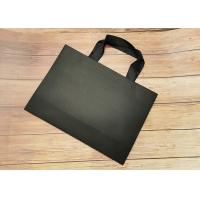Quality Recyclable SGS FDA Certified Tote Paper Bags With Black Silk Ribbon Handle for sale