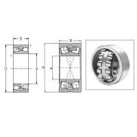 22208 China Split Spherical roller bearing with brass(steel)cage